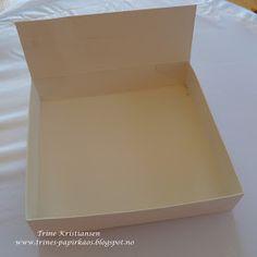 Trines-papirkaos: Sjokolade eske m/mål. Copic, Sheet Pan, Cards, La La Land, Asylum, Springform Pan, Maps, Playing Cards