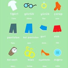 Clothing vocabulary in Turkish #learnturkish #turkishword #learningturkish