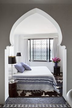 Moroccan Inspiration in Interior Designs - A beautifully lit room with well recognized architectural shapes