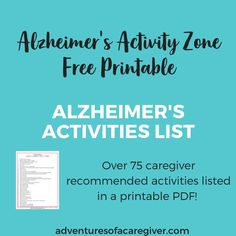 75+ Stimulating Activities for Alzheimer's & Dementia Patients | Adventures of a Caregiver