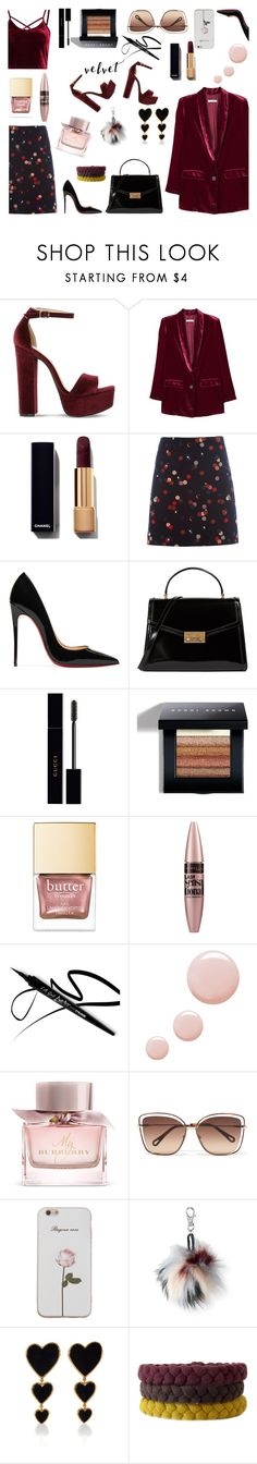 """Senza titolo #6709"" by waikiki24 ❤ liked on Polyvore featuring Steve Madden, MANGO, White Stuff, Christian Louboutin, Tory Burch, Gucci, Bobbi Brown Cosmetics, Maybelline, Topshop and Burberry"