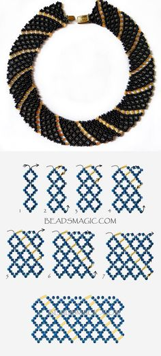 Free pattern for necklace Katrina 11/0-6 mm szalma