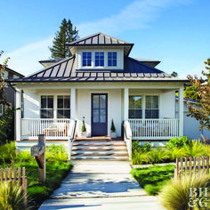 Closing costs, move-in projects, and one-time fees can seriously add up! See wha… Closing costs, move-in projects, and one-time fees can seriously add up! See. Craftsman Bungalow Exterior, Modern Farmhouse Exterior, Craftsman Bungalows, White Farmhouse, Grey Exterior, Exterior Colors, Exterior Design, French Exterior, Exterior Shutters