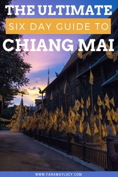 Chiang Mai in Thailand is by far my favourite place I've ever visited. So today I've compiled my ultimate six day guide to Chiang Mai, from volunteering with elephants to ziplining through the rainforest! Click through to read more...