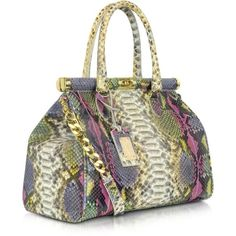 Ghibli Multicolor Python Leather Satchel ($1,490) ❤ liked on Polyvore