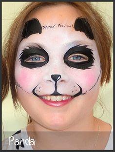 panda face painting by mimicks Panda Face Painting, Bear Face Paint, Panda Makeup, Bear Makeup, Halloween Make Up, Halloween Face Makeup, Halloween 2017, Halloween Ideas, Halloween Party