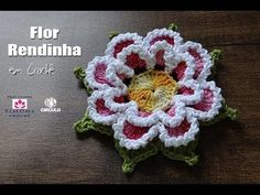 Crochet Fluffy Flower Tutorial 4 Part 1 of 2 Como hacer una flor de ganchillo facil paso a paso - YouTube