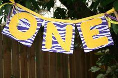 Lsu inspired first birthday banner by FstopCreations on Etsy, $14.99