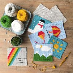 Crochet Quiet Book Pattern ~ Crochet Pattern ~ Montessori toy ~ Crochet Baby Book ~ Weather Quiet Book - Lilly is Love Crochet Game, Crochet Baby Toys, Crochet Books, Tapestry Crochet, Cute Crochet, Crochet For Kids, Baby Quiet Book, Quiet Books, Felt Books