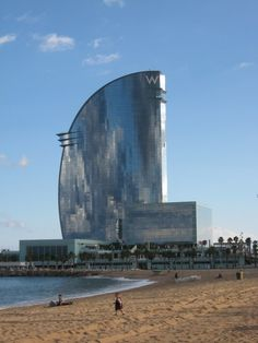 The W Hotel in Barcelona (called the Hotel Vela locally) is spectacular!