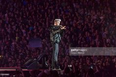 American singer, songwriter and stage actor Adam Lambert performs during the Queen + Adam Lambert show during the second day of Rock in Rio Lisbon on May 20, 2016 in Lisbon, Portugal.