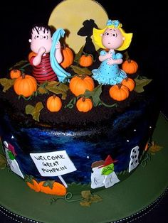 Submitted by Gabrielle K. & made by Erin S It's the Great Pumpkin (Cake), Charlie Brown!