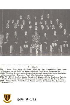 St.6/33 Hoërskool Wesvalia 1981