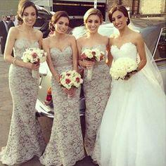 Sexy Lace Sweet Heart Mermaid Charming Elegant Wedding Guest Bridesmaid Dresses, WG71