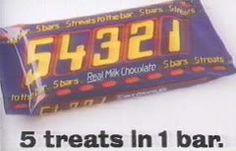 54321 chocolate bar