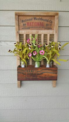 washboard decor vintage washboard washboard crafts old washboard ideas . Repurposed Items, Repurposed Furniture, Diy Furniture, Salvaged Decor, Country Decor, Farmhouse Decor, Country Wreaths, Diy Projects To Try, Craft Projects