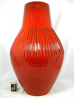 Beautiful 70´s design Carstens Keramik pottery floor vase Boden Vase 7710 - 50