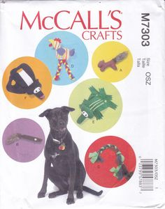 FREE US SHIP McCall's 7303 Sewing Pattern diy Dog Toys Squirrel Chicken Rope Alligator Pull toy Skunk Factory Folded 2015 Out of Print by LanetzLiving on Etsy