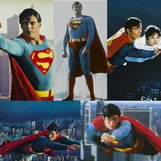 Christopher Reeve as SUPERMAN. I watch it all the time, I cannot take my eyes off of him, so gorgeous.