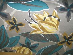 Floral Print- Set 22, 39- Linen by the YARD