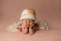 Newborn Cloche Hat Ivory Cloche Hat Newborn Hat by The Damask Baby