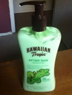 Hawaiian Tropic {After Sun} Lime Colada ;) I LOVE THIS STUFF!  It's so worth the money and it helps alot!