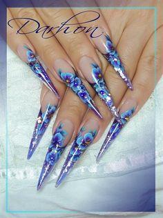 blue by Darhon - Nail Art Gallery nailartgallery.nailsmag.com by Nails Magazine www.nailsmag.com #nailart