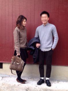 私 : ニット / 古着屋 スカート / UNIQLO リップルフレアスカート タイツ / チュチュアンナ  靴 / プリティーバレリーナ バッグ / しまむら ファー / ダウンについてたや  outfit coordinate styling #ootd japanese blogger fashion コーディネート コーデ スタイリング アウトフィト