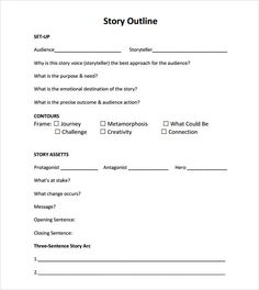 Short Story Template Word Awesome Story Outline Sample 9 Documents In Pdf Word Writing Prompts For Writers, Picture Writing Prompts, Book Writing Tips, Narrative Writing, Story Outline Template, Outline Sample, Writing Outline, Book Outline, Newsletter Templates Word