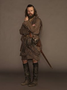 Angus Mhor, a member of Clan MacKenzie | Costume Designer TERRY DRESBACH for Outlander on Starz | www.terrydresbach.com