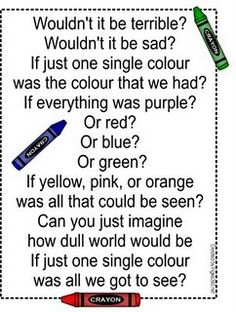 Great to go along with the book...The Crayon Box That Talked.