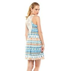 I love this dress but dont have the money): sad day     Pink Republic Crochet Back Dress - Juniors