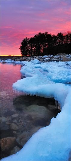 Edge of Pink Quabbin Reservoir, MA
