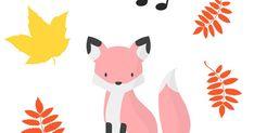 Tulostettava versio tässä: Kuura-ketun syyssade -pdf       Syksyn musiikkimaalaus yhdistää ihanasti lehtien hehkuvat värit, sateen ropina... Pikachu, Fictional Characters, Fantasy Characters