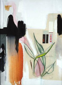 "Saatchi Art Artist: Jay Young Gerard; Fabric 2013 Collage """"Aspidistra"""""