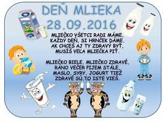 Deň mlieka Kid Friendly Art, In Kindergarten, Children, Kids, Diy And Crafts, Preschool, Classroom, Teacher, Memories