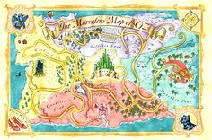 map of oz | ... Oz series 'The Marvelous Land of Oz' First four issues and alternate
