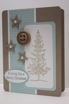 The Pursuit of Stampin'ess: Lovely as a tree Christmas card by Stampin Up and me