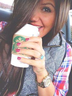 OMG look at me Instagram selfie pumpkin spice Starbucks life #typicalwhitegirls