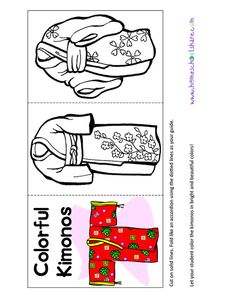 homeschool share Japan Lapbook (for A Pair of Red Clogs)