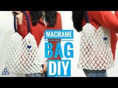 Macrame Bag Tutorial   Market Bag DIY - YouTube