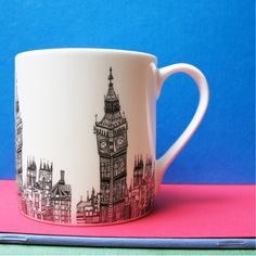 Big Ben London Mug - Folksy  http://folksy.com/items/3308630-Big-Ben-London-Mug