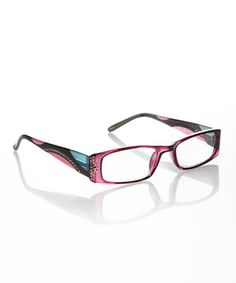 A fashionable silhouette encrusted with rhinestones meets cutting-edge technology, resulting in these trendy reading glasses. The lightweight plastic adds to both comfort and durability.