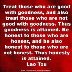 Goodness and Honesty