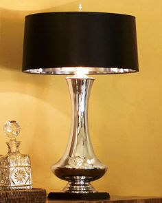 Mercury Glass Lamp at Horchow.  Love it! #Horchow