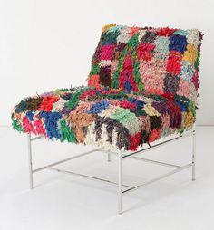 vintage Moroccan rug chair
