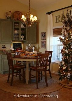 our new french country breakfast area, home decor, living room ideas French Country Dining Room, French Country Kitchens, Country Farmhouse Decor, French Country Decorating, Country Breakfast, Breakfast Nook, Fall Breakfast, Tuscan Design, Decoration