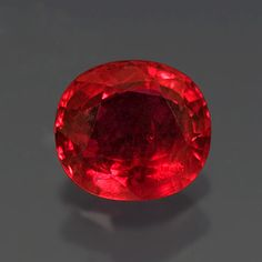 Sample of a ruby with good color from the Thai/ Cambodian border area
