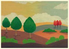 Landscape in acrylic