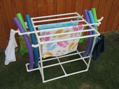 PVC Pipe towel, noodle, raft, and clothes holder